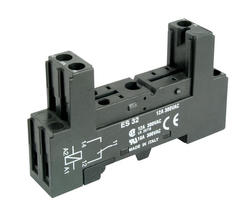 Socket ES 32 - screw terminals, Sockets for miniature relays