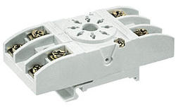 Socket GZU8 - screw terminals , Sockets and accessories for R15